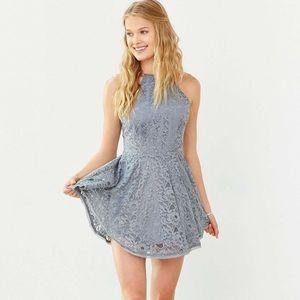 Kimchi Blue Loraine Gray Lace Sundress Size Large